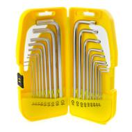 Long Hex / Allen / Torx / Tamper Key Set 18pc 1.5 – 10mm / T10 – T50 Bergen