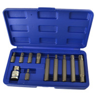 "1/2"" Drive Ribe Bit Socket Set M5 – M14 Short (30mm) And Deep (75mm) 11pcs Set"