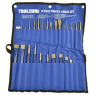 28pc Jumbo Punch & Chisel Taper Pin Centre Cold Chisel Parallel Punches TE867