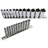 "Imperial SAE / AF Double Deep Sockets 1/4"" And 3/8"" Drive 5/32"" - 7/8"" 23pc Set"