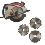 1300w Circular Saw 185mm Laser Guide Woodwork Electric & 3 Spare Blades TPI