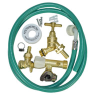 Outdoor Tap Kit Brass Self Cut Tap Hose Pipe Garden Water Fittings Wall Mounted