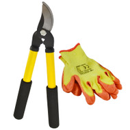 Garden Tool Set Shears Hedge Trimmer Loppers Cutters Pruners Protective Gloves