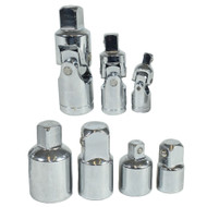 Socket Adaptor Adapter Step Up Reducer And Universal Joints UJ's 7pc By Bergen