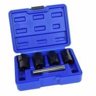 "5pc 1/2"" Twist Socket Broken Studs Nuts Wheel Lock Nut Remover 17mm – 22mm"