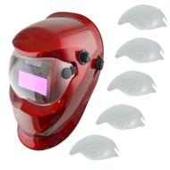 Auto Darkening Welders Helmet Mask Welding Grinding Function & 5 x Lens Cover