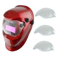 Auto Darkening Welders Helmet Mask Welding Grinding Function & 3 x Lens Cover