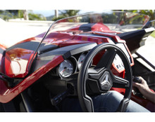 Polaris Slingshot Blade Wind Deflector Windshield - inside view