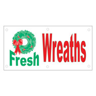 Fresh Wreaths Banner (BA-833)