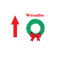 "12"" x 18"" Wreath Directional Sign (JB-114)"