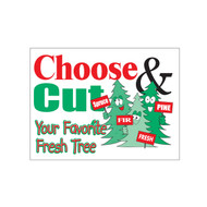 Choose and Cut Your Favorite Fresh Tree Sign (JB-125)