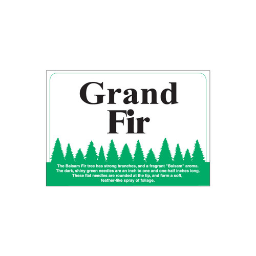 Species Sign - Grand Fir (JB-SP-12)