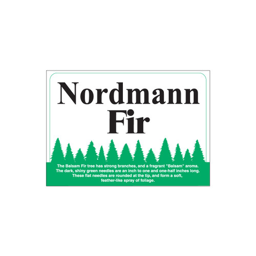 Species Sign - Nordmann Fir (JB-SP-13)