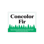 Species Sign - Concolor Fir (JB-SP-3)