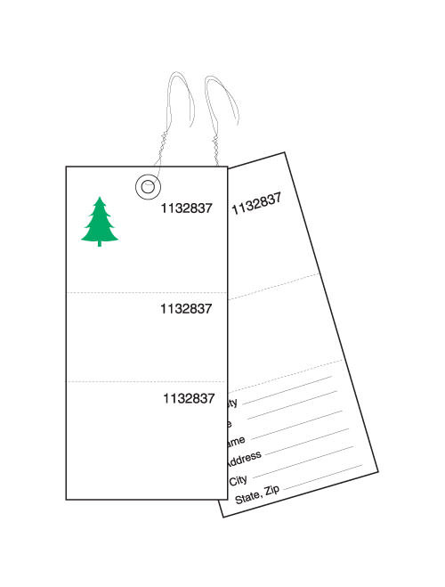 3-Part Weatherproof Tyvek Tree Tags (TT-703)