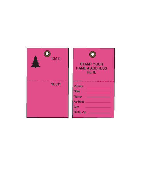 Pink Tyvek Tree Tags w/ Cable Ties - 500/CS (TT-500FPCS)