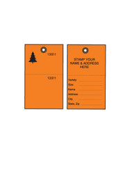 Orange Tyvek Tree Tags w/ Wire Ties - 500/CS (TT-500OWCS)