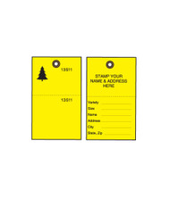 Yellow Tyvek Tree Tags w/ Wire Ties - 500/CS (TT-500YWCS)