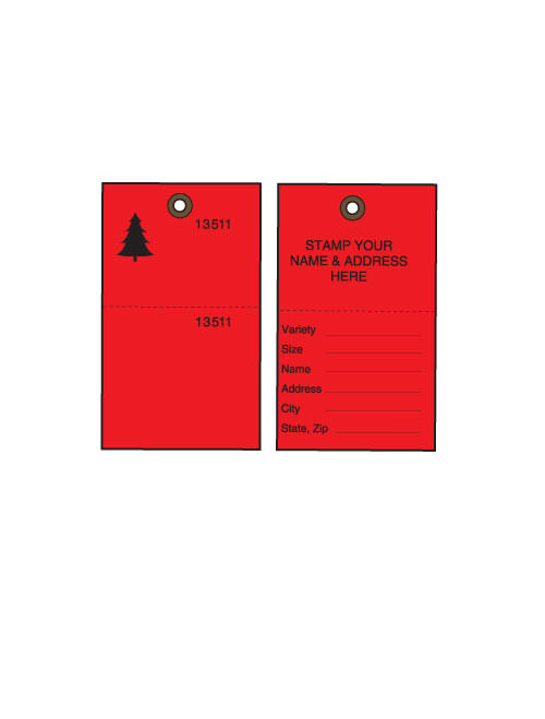 Red Tyvek Tree Tags w/ Cable Ties - 500/CS (TT-500RCS)