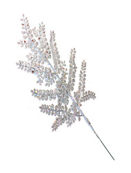 16'' Cedar Glittered Spray - Silver (WS-CGS-S)