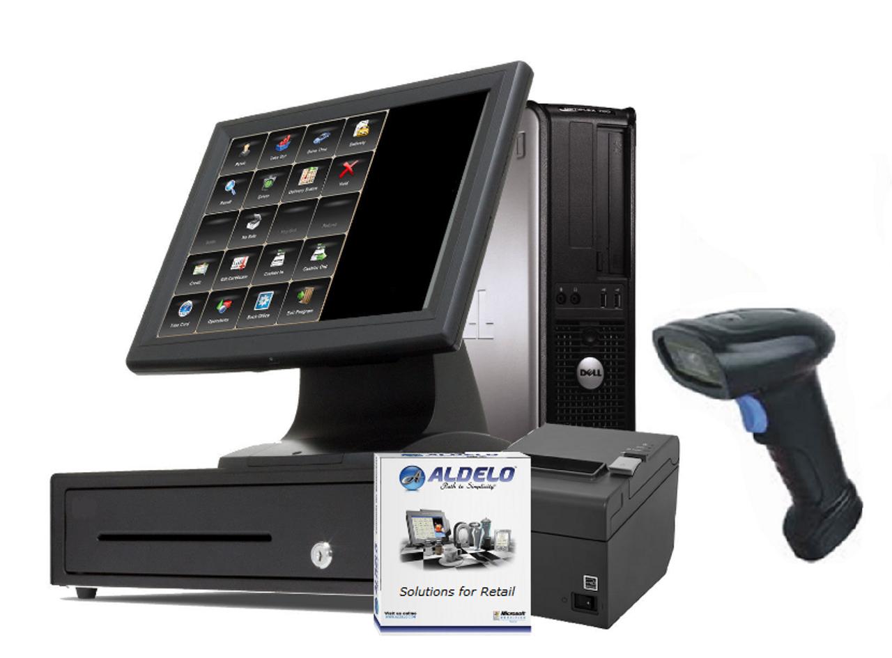 Aldelo Retail Pro POS System - 1 Station Scanner Bundle
