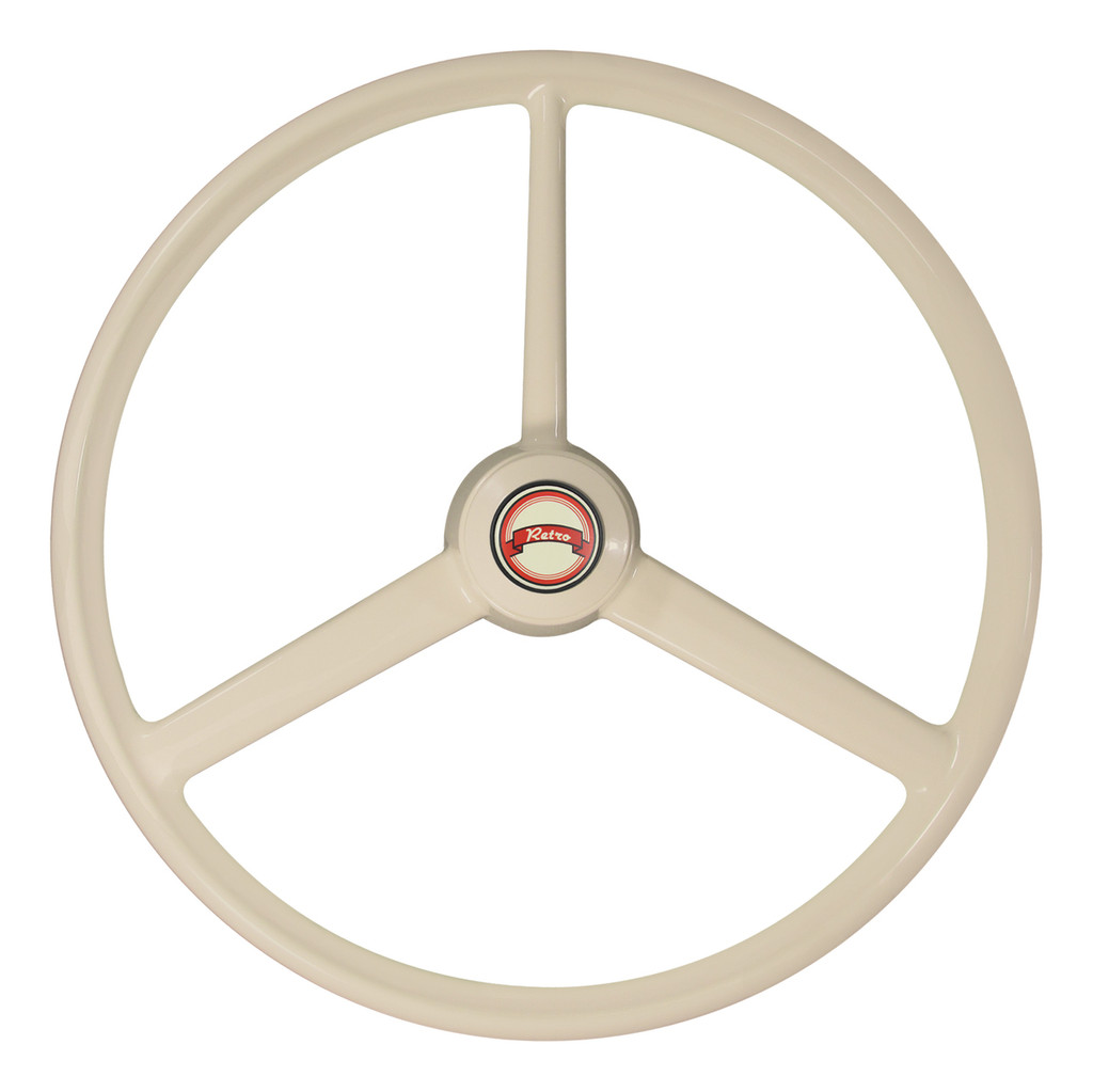 This wheel may be installed with the single spoke positioned up or down.