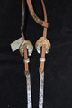 Dale Chavez Western Headstall Rope Edge Concho Buckles