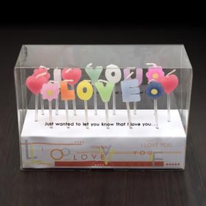 """I LOVE YOU"" 拼字蠟燭"