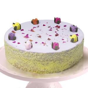 """【預訂產品】母の日‧紫薯芝士蛋糕(6吋) - 附送""""玫瑰花D.I.Y裝飾套裝""""一套"""