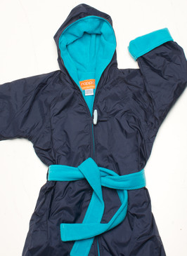 Polar Fleece Navy & Aqua