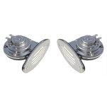 Ongaro Mini Dual Drop-In Horn w\/SS Grills High & Low Pitch
