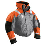 First Watch AB-1100 Flotation Bomber Jacket - Orange\/Grey - X-Large