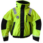 First Watch Hi-Vis Flotation Bomber Jacket - Hi-Vis Yellow\/Black - Small
