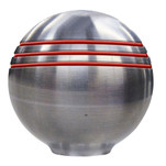 "Ongaro Throttle Knob - 1-"" - Red Grooves"