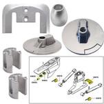 Tecnoseal Anode Kit w\/Hardware - Mercury Bravo 3 2004 - Zinc