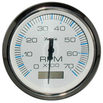 "Faria Chesapeake White SS 4"" Tachometer w\/Hourmeter - 7,000 RPM (Gas - Outboard)"