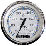 "Faria Chesapeake White SS 4"" Tachometer w\/Systemcheck Indicator - 7,000 RPM (Gas - Johnson\/Evinrude Outboard)"