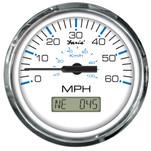 "Faria Chesapeake White SS 4"" Speedometer - 60MPH (GPS)"