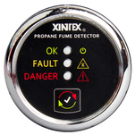 Xintex Propane Fume Detector w\/Plastic Sensor - No Solenoid Valve - Chrome Bezel Displa