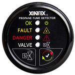 Xintex Propane Fume Detector w\/Plastic Sensor & Solenoid Valve - Black Bezel Display