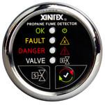 Xintex Xintex Propane Fume Detector w\/Plastic Sensor & Solenoid Valve - Chrome Bezel Display