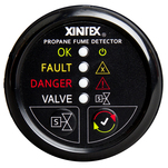 Xintex Propane Fume Detector w\/Automatic Shut-Off & Plastic Sensor - No Solenoid Valve - Black Bezel Display