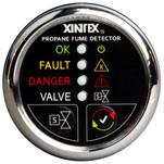 Xintex Propane Fume Detector w\/Automatic Shut-Off & Plastic Sensor - No Solenoid Valve - Chrome Bezel Display