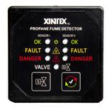Xintex Propane Fume Detector w\/2 Plastic Sensors - No Solenoid Valve - Square Black Bezel Display