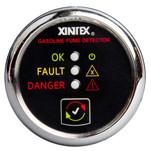 Xintex Gasoline Fume Detector & Alarm w\/Plastic Sensor - Chrome Bezel Display