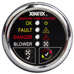 Xintex Gasoline Fume Detector & Blower Control w\/Plastic Sensor - Chrome Bezel Display