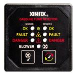 Xintex Gasoline Fume Detector & Blower Control w\/2 Plastic Sensors - Black Bezel Display