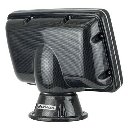 NavPod PP4808 PowerPod Pre-Cut f\/Simrad NSS8\/BG Zeus Touch 8 - Carbon Black