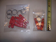 Amish Outfitters Red Inline Weight Clips (6 Pack)