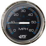 "Faria Chesepeake Black SS 4"" Studded Speedometer - 60MPH (GPS)"